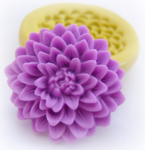 Large Chrissy Spring Flower Mold Silicone Big Chyrsanthemum  Flowers Mould