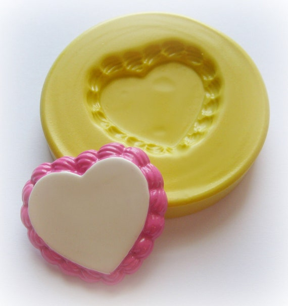 Cake Tart Base Frosting Heart Mold Mould Resin Clay Fondant Miniature SweetsJewelry Charms Flexible Molds