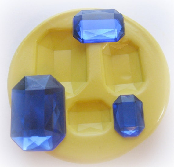 Rhinestone Faceted Mold Resin Candy Fondant Clay Mould