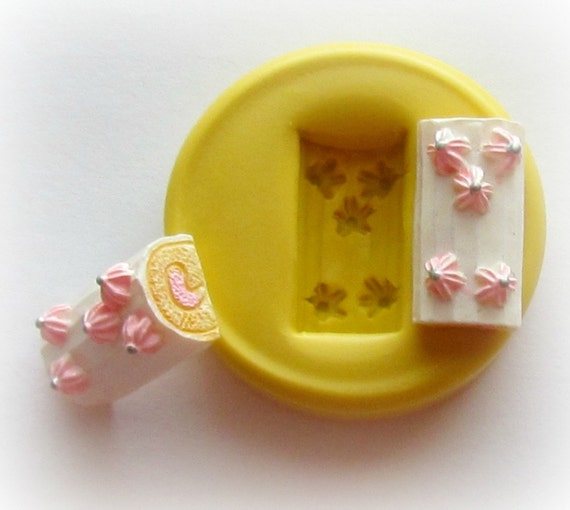 Cake Tart Jelly Roll Mold Mould Resin Clay Fondant Miniature SweetsJewelry Charms Flexible Molds