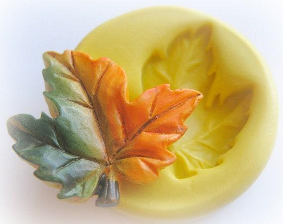Autumn Leaf Mold Mould Resin Clay Fondant Wax Soap Miniature Sweet Flower