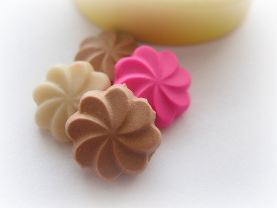 Miniature Cookie Mold Tiny Doll House Polymer Clay Resin Mould