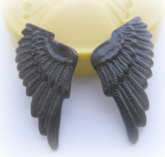 Steampunk Mold Wings Gothic Modern Jewelry Mold Charm Resin Polymer Clay PMC Mould