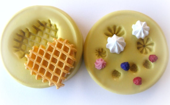 Kawaii Waffle Charm Mold Silicone Decoden Jewelry Molds