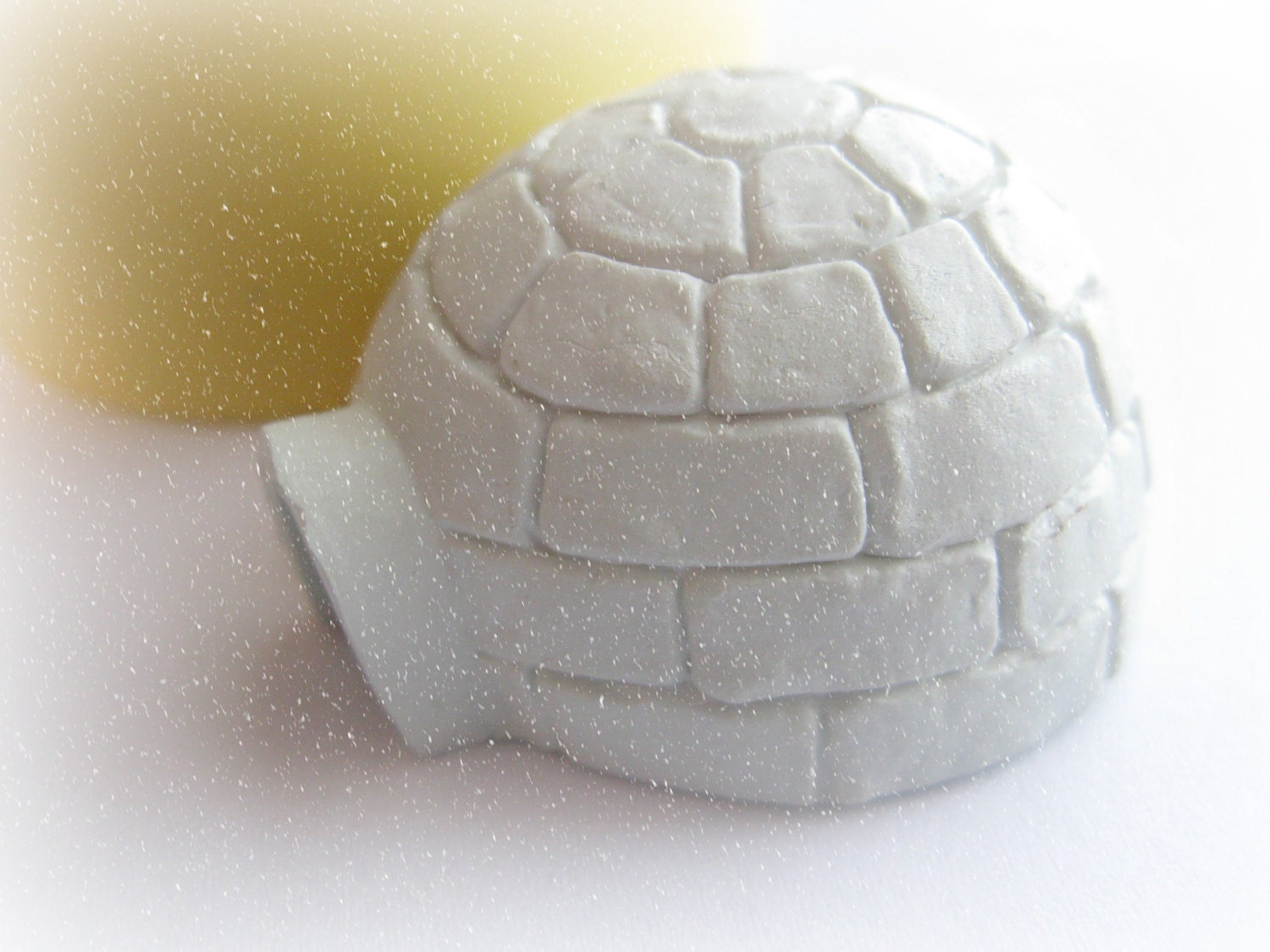 igloo arctic mold north pole clay fondant resin mold textured flocked mold