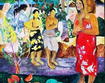 Artist study of We Greet Thee Mary by Paul Gauguin