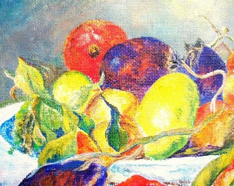 Artist study of  Fruits From the Midi by Pierre August Renoir