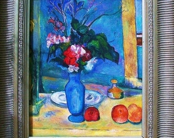 Artist study of  THE BLUE VASE by Paul Cezanne
