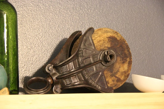 Vintage Wooden Pulley - Myers O.K. H-298