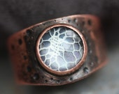 RING She's Complicated - Copper and Lace  - Statement Ring - Made to Order