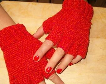 Red Fingerless Gloves