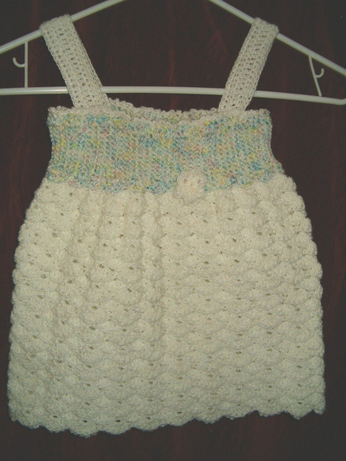 Crochet Ruffled Baby Dress Pattern : White Ruffle Baby Doll Dress Crochet