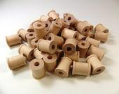 "48 Wood Spools 3/4"" x 5/8"" Wood Thread Spools Unfinished Wood Spools"