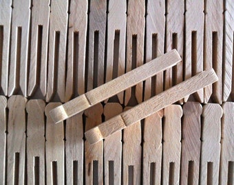 """16 Clothes Pins 2 1/2"""" H x 7/16"""" W Unfinished Wood"""
