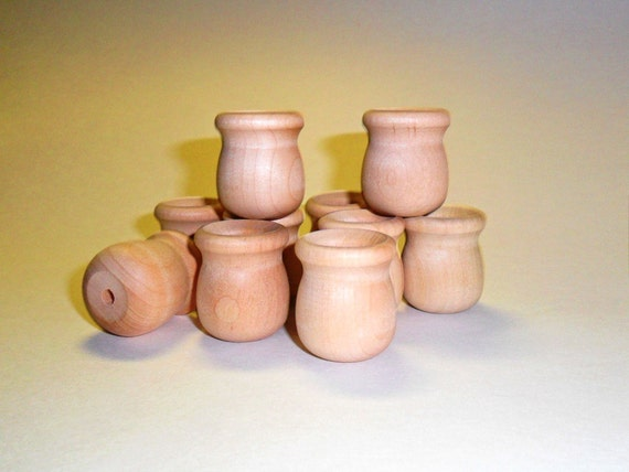 12 candle cup 1 1 4 bean pot unfinished wood by craftingdaily - Unfinished wood candlestick holders ...