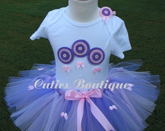 Lollipop Pink Lavender Birthday Tutu Set  With 3D Lollipops Shirt -- All Sizes 3 6 9 12 24 Months 2T 3T 4T---Birthday, Photo, Props