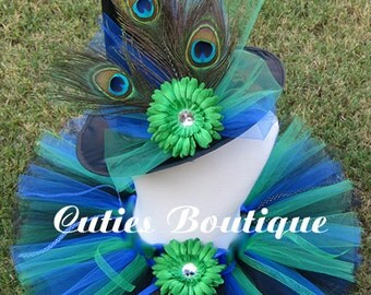 Peacock Witch --- Sizes 6 9 12 18 24 Months 2T 3T 4T---- Birthday, Photo, Holidays, Dress Up, Halloween Costume
