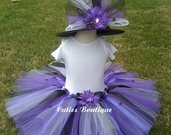 Purple  Spider  Witch --All Sizes 6 9 12 18 24 Months 2T 3T 4T -- Birthday, Photo, Holidays, Dress Up, Halloween Costume