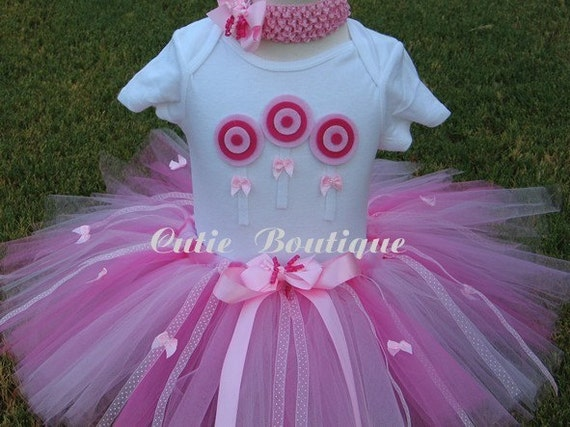 LOLLIPOP Birthday TUTU Set With 3D Lollipop Shirt  - - All Sizes 6 9 12 18 24 Months 2T 3T----- Birthday, Photo, Holidays, Dress Up