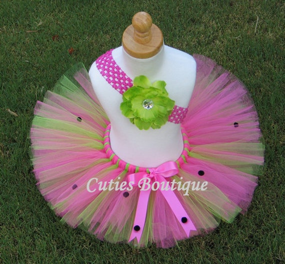 LadyBug Birthday Tutu Headband Set 1st 2nd 3rd All Sizes