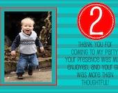 Birthday Party Thank You Photo Card - Boy - Digital File - Customizable - Printable
