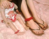 Matching Crochet Anklet for Girl and My Twinn Doll