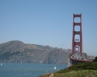Golden Gate Bridge Photograph, California Bay Art, San Francisco, Pacific Ocean Photo, Fine Art Print Photography, Gifts For Him Under 30