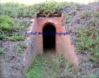 Brick Armory Picture, Abandoned Places Wall Art, Red Brick Photograph, Travel Photo, San Francisco Presidio, Naval Landmark Photograph, Art