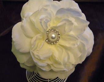 White flower headband or white flower clip you choose, ,flower girl headband, bridesmaid headband