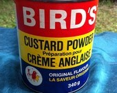 ON SALE - Vintage 1960s Bird's British Custard Powder Tin