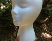DESTASH - Styrofoam Mannequin Head For Wig or Hat Display or Crafts