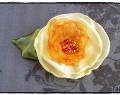 Lemon Rose Hair Clip