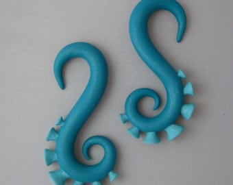Gauged Tentacle Earrings