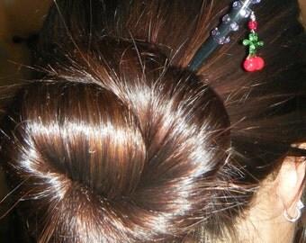 Cherry hair sticks