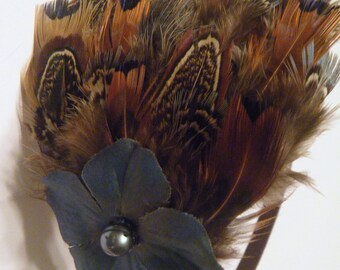 Feathers and flowers headband