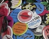 Anime Buttons Pick 5 of Your Choice for 10 Dollars