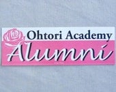 Revolutionary Girl Utena Anime Bumper Sticker - Ohtori Academy Alumni