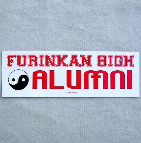 Ranma One Half Anime Bumper Sticker - Furinkan Alumni