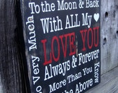 LOVE YOU (black) Typography Word Art Sign