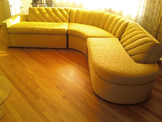 vintage mid century sectional sofa large like new. Black Bedroom Furniture Sets. Home Design Ideas