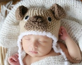 Crochet Puppy Hat (Newborn)