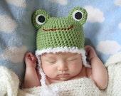 Little Frog Crochet Hat (Newborn)