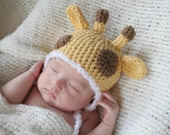 Cute Crochet Giraffe Hat (Newborn)