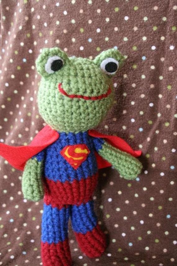 Super Froggy Crochet Stuffed Animal