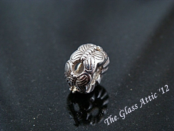 Clearance Butterfly Circle Sterling European Charm Bead BHB Fits Trollbeads and All Other Systems