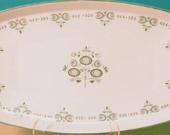 Franciscan Serving Platter in Heritage Pattern