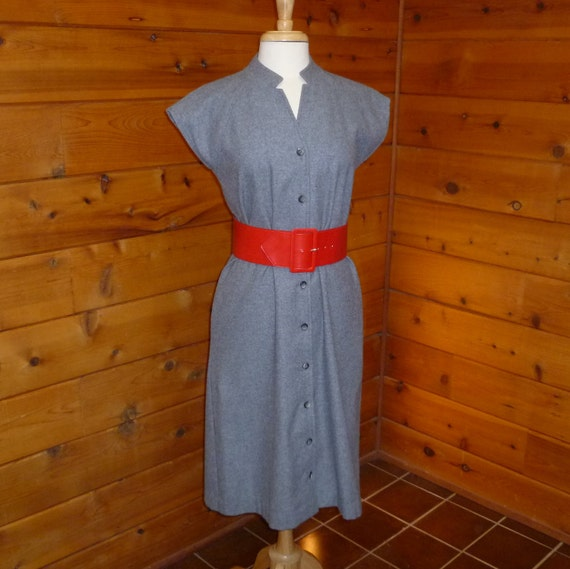 Vintage Dress Tunic Style 1970s Size 12 Tall