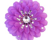 Purple Penny Blossom Sparkly Flower Barrette (The Big Bang Theory)