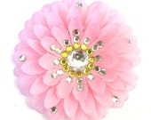 Pink Penny Blossom Rhinestone Sparkly Flower Barrette (The Big Bang Theory)