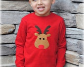Holiday Sale Red Nosed Reindeer Boy's Baby Bodysuit Or Shirt - Christmas Holiday Clothing